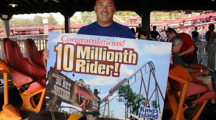 Diamondback Gives it's 10 Millionth Ride at Kings Island