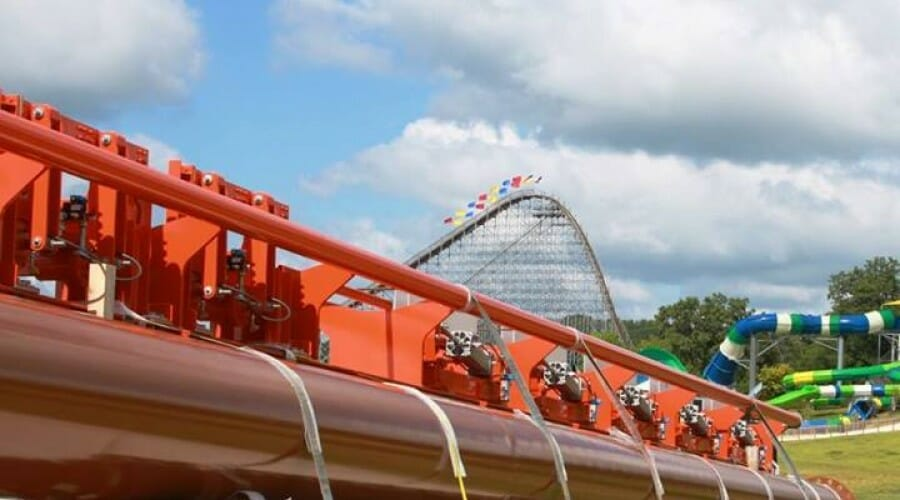 Holiday World Receives First Shipment of Thunderbird Track