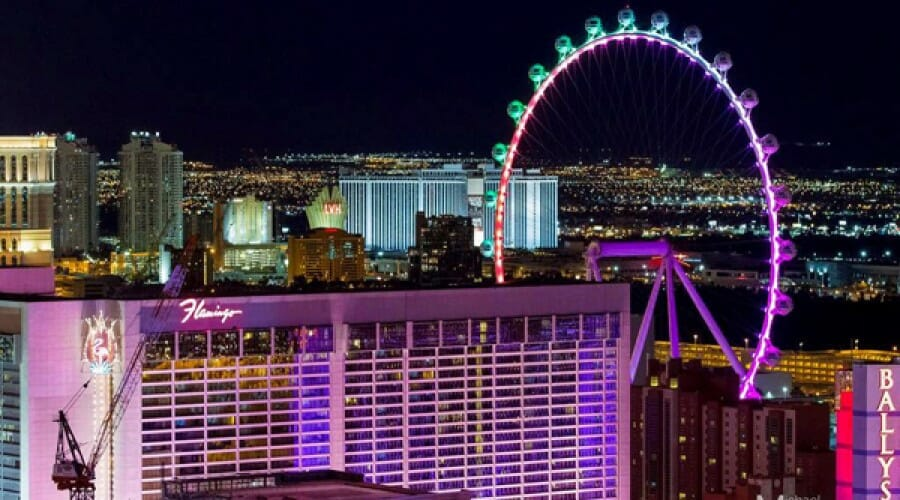 """Checking Out The 550-foot """"High Roller"""" Observation Wheel in Las Vegas"""