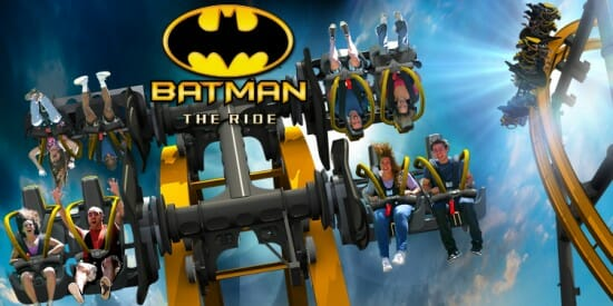 First Look at the New 4D Free Fly Coaster, Batman The Ride | Six Flags Fiesta Texas
