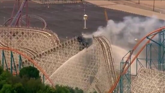 Colossus Roller Coaster Catches Fire And Collapses At Six Flags Magic Mountain