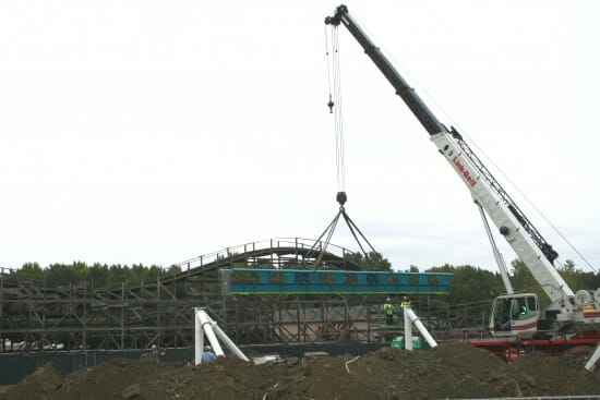 First Piece Of Track Is In Place For Fury 325 At Caronwinds