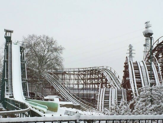 Snow Covered Kennywood – Pittsburgh PA