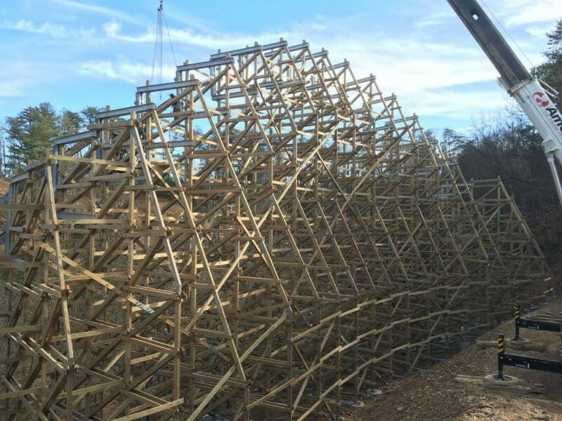 Lightning Rod Construction Update at Dollywood
