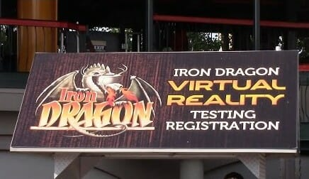 Virtual Reality Testing on Iron Dragon At Cedar Point