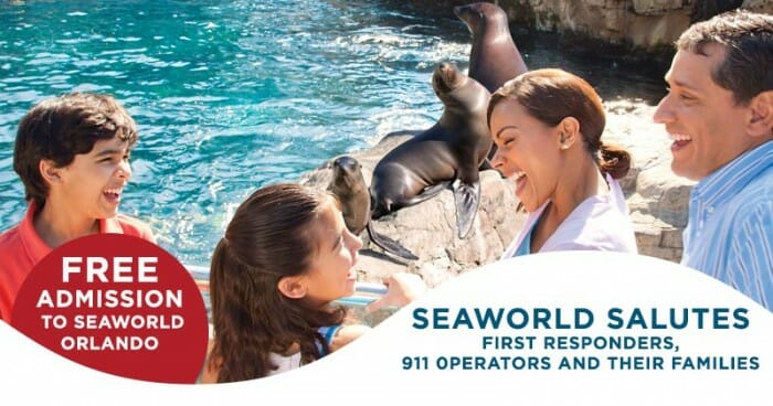 Free Admission For First Responders at SeaWorld Orlando