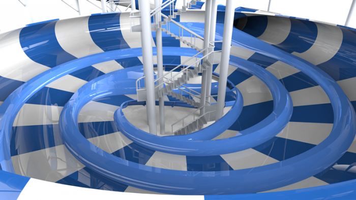 Polin Wins IAAPA Brass Ring Award for Space Race Waterslide