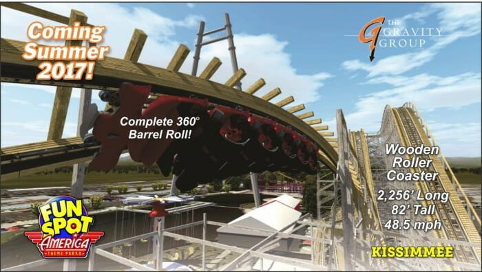 Fun Spot America Adding New Wooden Roller Coaster For Summer 2017