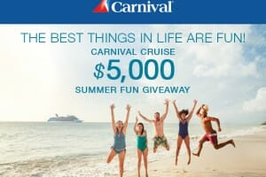 Carnival Cruise Lines and Cedar Fair Team Up for FUN Summer Giveaway