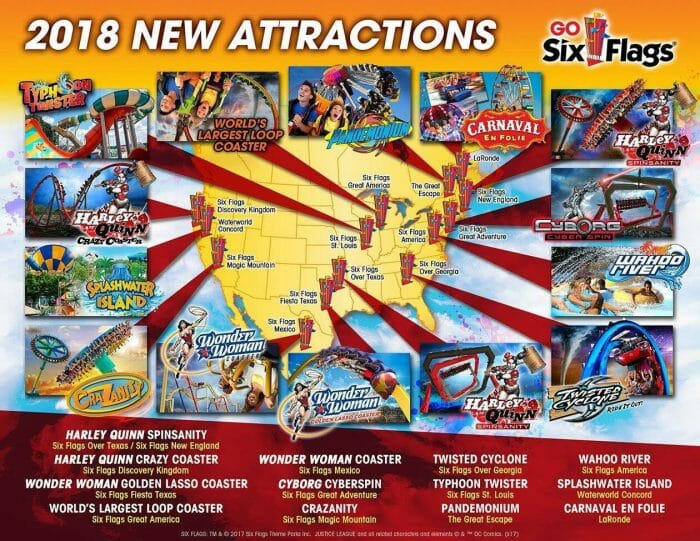 Six Flags Announces New Attractions For 2018