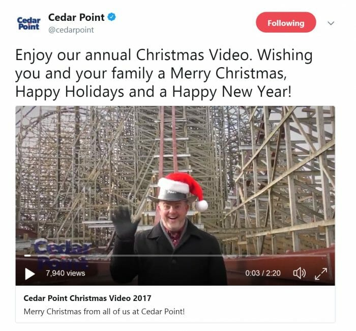 Cedar Point Releases Annual Christmas Video