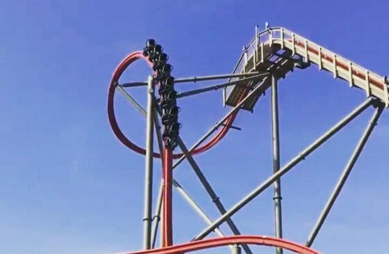 California's Great America Completes First Test of Railblazer Roller Coaster