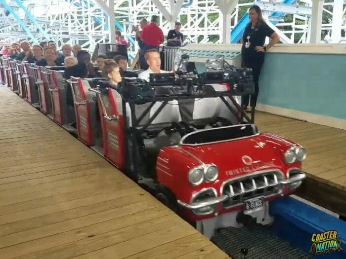 Video: Twisted Cyclone First Rides At Six Flags Over Georgia