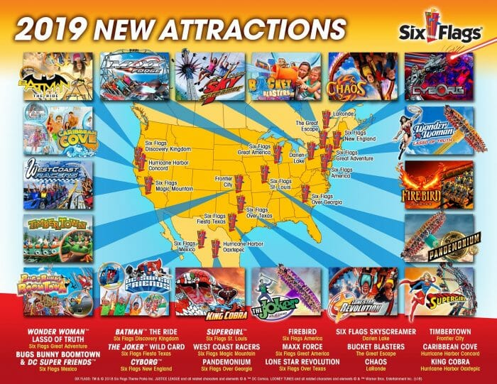 Six Flags Announces New Attractions For 2019