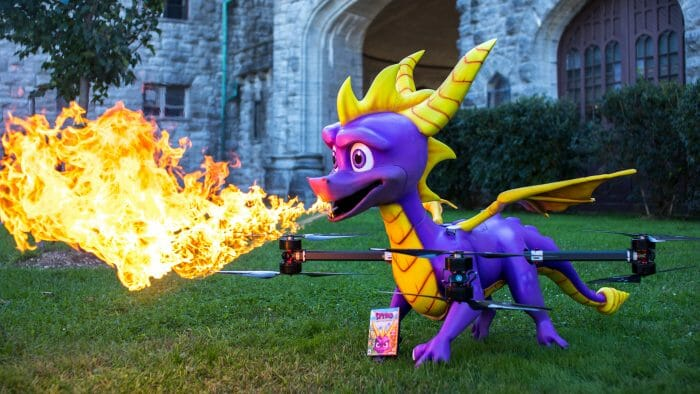Activision Unveils Life-Sized Fire-Breathing Spyro Drone To Promote New Spyro Game