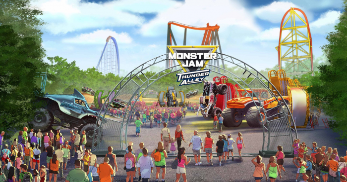 Monster Jam Thunder Alley Debuts at Cedar Fair Parks