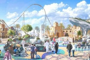 Six Flags Qiddiya Unveils Park Design and World's Largest Coaster