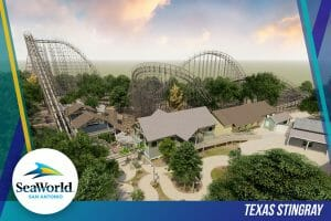 SeaWorld San Antonio Reveals Plans For Record Breaking Texas Stingray Wooden Roller Coaster