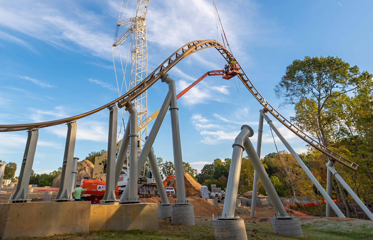 Pantheon Construction Photos From Busch Gardens Williamsburg
