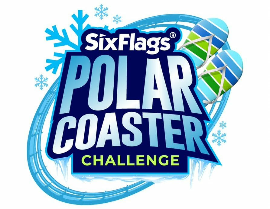 Thrill Seekers Take A Frosty Plunge At Six Flags America's Polar Coaster Challenge