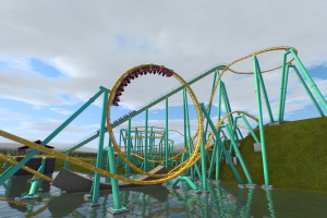 Long Lost Fiesta Texas Proposed Concept Coaster by TOGO