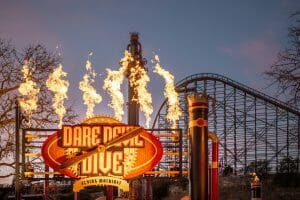 New Dare Devil Dive Brings Aerobatic Thrills To Six Flags Fiesta Texas