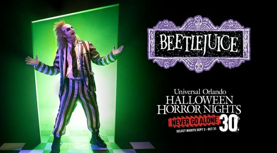 Beetlejuice Haunted House Coming To Halloween Horror Nights 30 in 2021