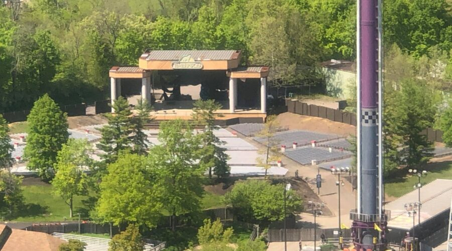 Land Clearing Begins At Kings Island's Timberwolf Amphitheater