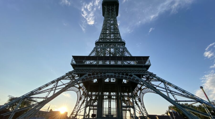 Iconic Eiffel Tower At Kings Island Closing